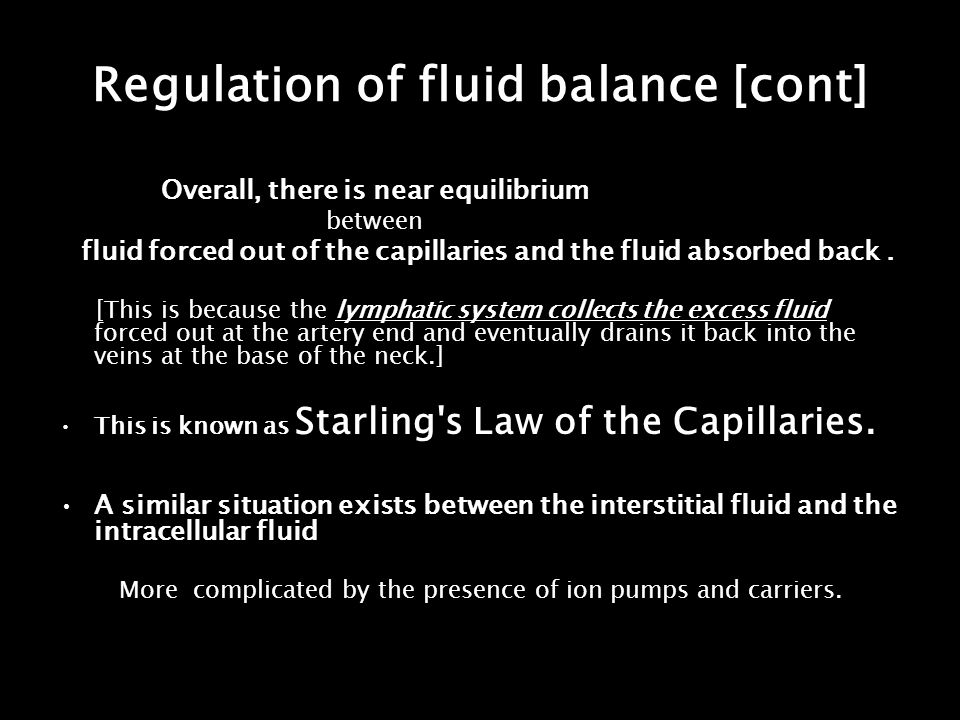 Regulation of fluid balance [cont]